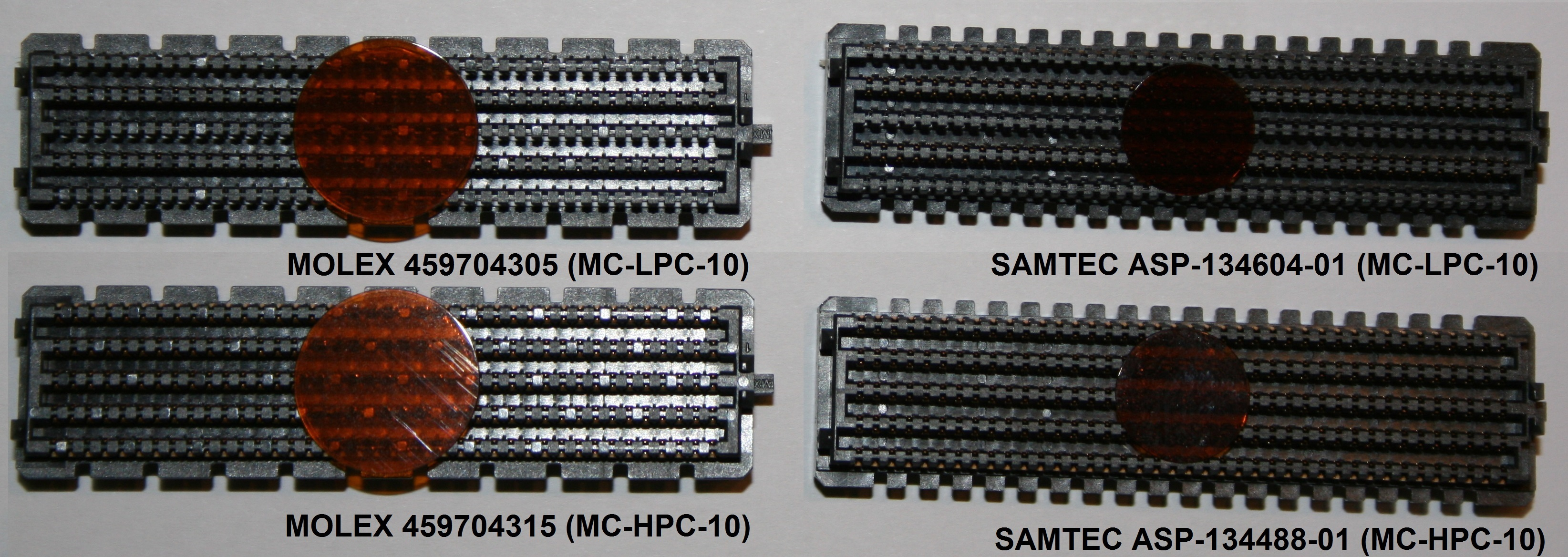 Molex and Samtec FMC connectors
